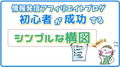 情報発信アフィリエイトブログで初心者が成功するシンプルな構図